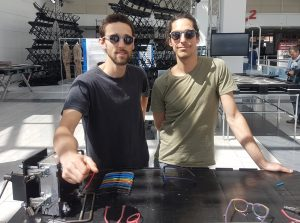 "Also at the ""Urban Living""-area: Aniol Lopez and Marc Benito present their sustainable approach for manufacturing sunglasses from recycled plastic and other materials"