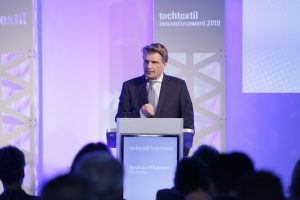 """Once a textile specialist, always a textile specialist"", said Thomas Bareiss, Parliamentary Secretary of State in the Federal Ministry of Economics and Energy (BMWi), during the opening of Techtextil and Texprocess 2019"