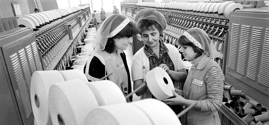 Former apprentice training in the VEB cotton spinning mill, Plauen/ Source: Wolfgang Schmidt